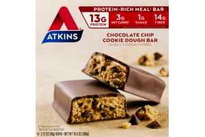 Atkins Chocolate Chip Cookie Dough Bar - 5 CT