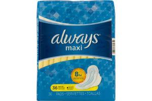 Always Maxi Pads Regular - 36 CT