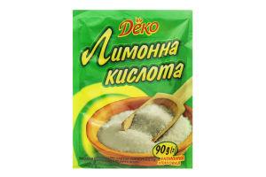 Кислота лимонная Деко м/у 90г