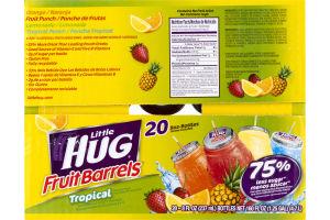 Little Hug Fruit Barrels Tropical Variety Pack