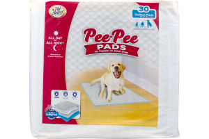 Pet Select Pee-Pee Pads For Puppies To Adult Dogs - 30 CT