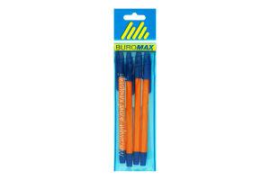 Набір кулькових ручок BuroMax Orange помар.корпус 4шт
