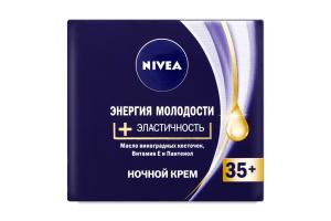 Крем для обличчя нічний 35+ Енергія молодості+Еластичність Nivea 50мл