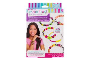 Набір для дітей від 8років для створення шарм-браслетів №MR1209 Неоновий стиль Make It Real 1шт