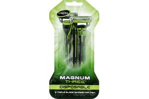 CareOne Magnum Three Disposable Razors For Men - 3 CT
