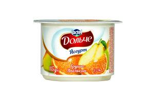 Йогурт 3.2% Груша-апельсин Дольче ст 115г