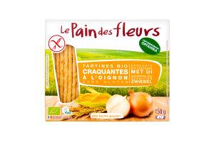 Хлібці LePaindesFleurs органічні безглютенові з цибулею 150г