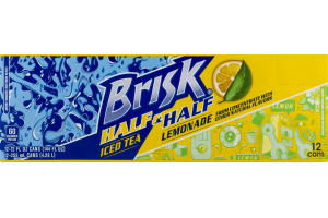 Brisk Half & Half Iced Tea Lemonade - 12 CT