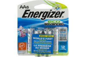 Energizer Eco Advanced AA Batteries - 6 CT