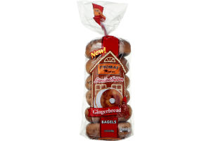 Thomas' Limited Edition Pre-Sliced Bagels Gingerbread - 6 CT