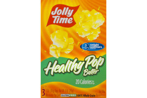 Jolly Time Healthy Pop Butter Microwave Pop Corn - 3 CT
