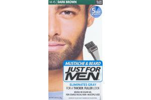 Just For Men Mustache & Beard Brush-In Color Gel M-45 Dark Brown