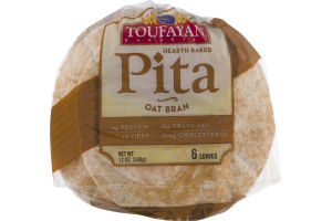 Toufayan Bakeries Pita Oat Bran - 6 CT