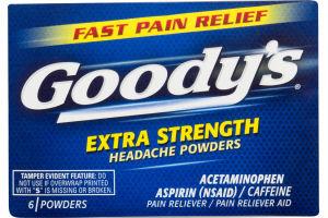 Goody's Extra Strength Headache Powders - 6 CT