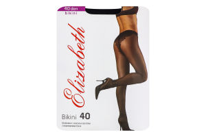 Колготки жіночі Elizabeth Bikini 40den 2 nero