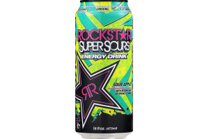 RockStar SuperSours Energy Drinks Sour Apple