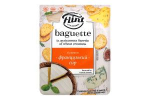 """ТМ """"Flint Baguette"""" Сухарики пшеничні зі смаком «Французький сир» 110 г"""