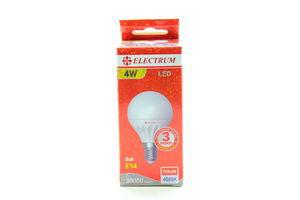 Лампа EL св./діод. сфер. D45 4W LB-8 E14 4000K мат.керам./к