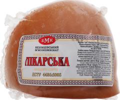 Ковбаса варена вищого сорту Лікарська Безлюдівський м'ясокомбінат кг