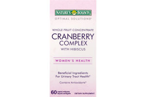 Nature's Bounty Cranberry Complex With Hibiscus Dietary Supplement Rapid Release Liquid Softgels - 60 CT