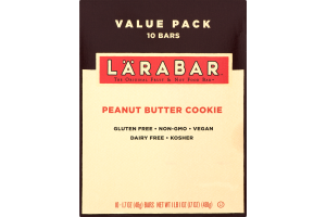 Larabar The Original Fruit & Nut Food Bar Peanut Butter Cookie - 10 CT