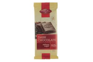 Шоколад без цукру чорний АВК 90г