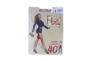 Колготки женские элегантные без шортиков Flirty 40den 5 бежевые