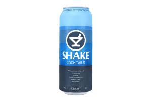 Напиток слабоалкогольный 0.5л 7% сильногазированный Shake Ice Baby ж/б
