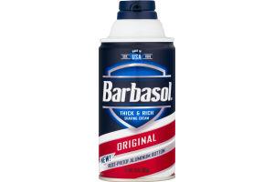 Barbasol Thick & Rich Shaving Cream Original