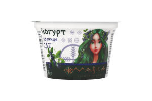 Йогурт 2.5% з наповнювачем Чорниця Мавка Галичина ст 170г