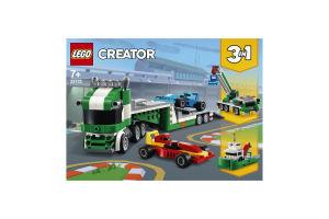 Конструктор для детей от 7лет №31113 Транспортер гоночных автомобилей Creator Lego 1шт