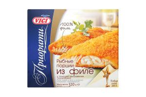 Рибні порції з філе в панір.замор.Vici 320г
