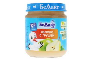 Пюре для детей от 5мес Яблоко-груша Беллакт с/б 100г