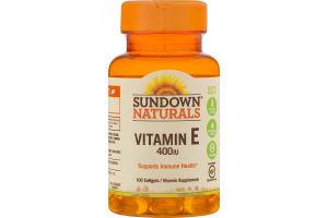 Sundown Naturals Vitamin E 400IU Softgels - 100 CT
