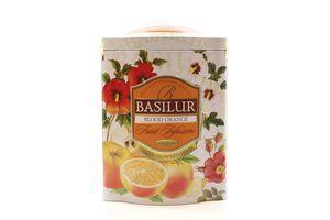 Чай Basilur Фруктовий коктейль Червоний апельсин з/б 100гх6