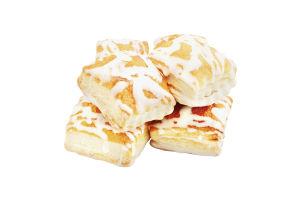 Печиво здобне листкове з білою глазур'ю Надзвичайне Бом-Бік к/у 250г