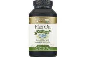 Spectrum Essentials Flax Oil Omega-3 1000mg Softgels - 250 CT