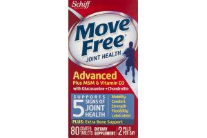 Move Free Joint Health Advanced Plus MSM & Vitamin D3 - 80 CT