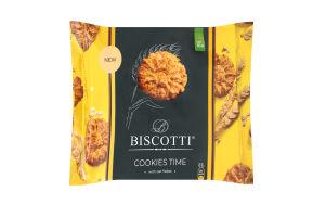 Печенье сдобное песочно-отсадное с овсяными хлопьями Cookies time Biscotti 170г