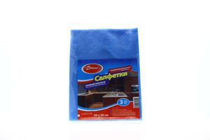 Салфетки для сухой и влажной уборки универсальные 50х38см DeLuxe 3шт