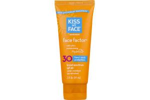 Kiss My Face Face Factor Sunscreen Face + Neck SPF 30