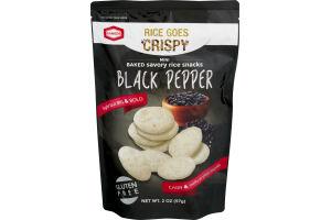 Kameda Rice Goes Crispy Mini Baked Savory Rice Snacks Black Pepper