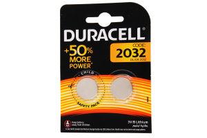 DURACELL Батарейка літієва 3V 2032 2шт 2 шт