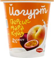 Йогурт 2% Персик-маракуйя РадиМо ст 125г