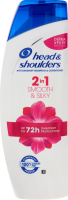 Шампунь та бальзам-ополіскувач для волосся проти лупи 2в1 Гладеньке та шовковисте Head&Shoulders 360мл