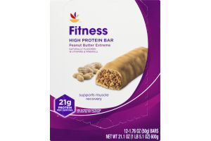 Ahold Fitness High Protein Bar Peanut Butter Extreme - 12 CT