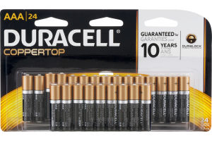 Duracell Coppertop AAA Batteries - 24 CT