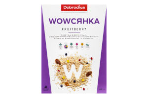 Пластівці вівсяні Fruitberry Wowсянка Dobrodiya к/у 450г