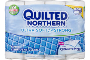 Quilted Northern With Cleanstretch Double Rolls - 24 CT