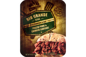 Curly's Rio Grande Style with Barbeque Sauce Pulled Pork & Chorizo Sausage